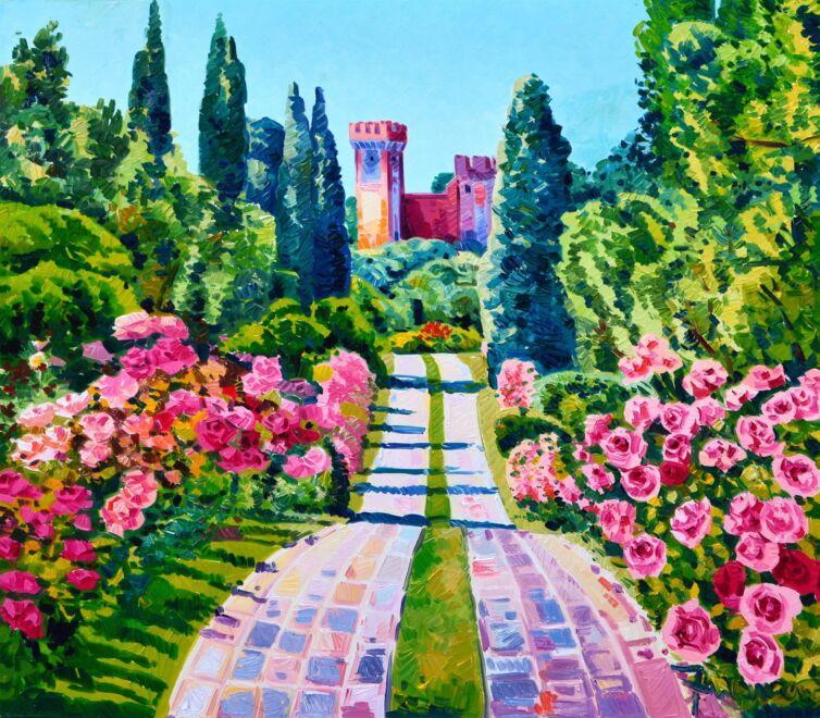Il viale delle rose e una brezza gentile