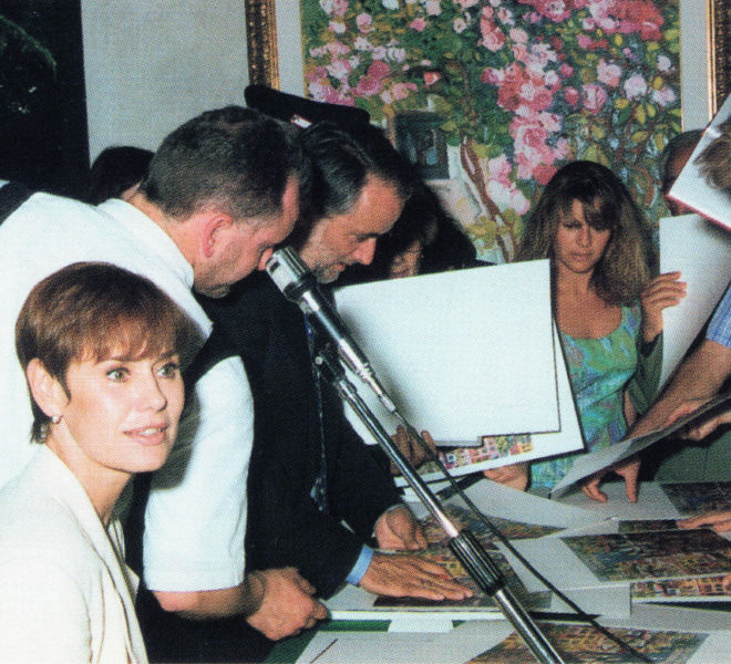 Athos Faccincani e Corinne Clery Brescia 1994