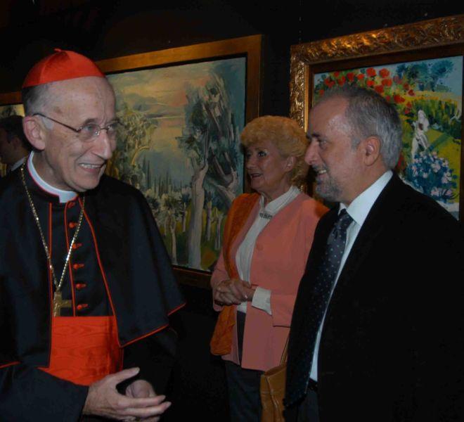 Cardinale Camillo Ruini e Athos Faccincani - Roma 2005