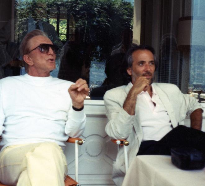 Kirk Douglas e Athos Faccincani
