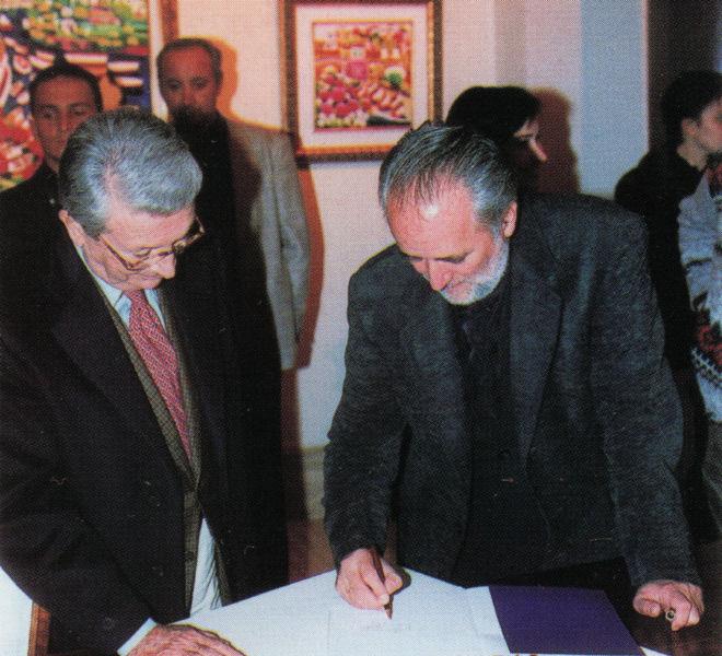 Luciano Rispoli con Athos Faccincani Roma 1997