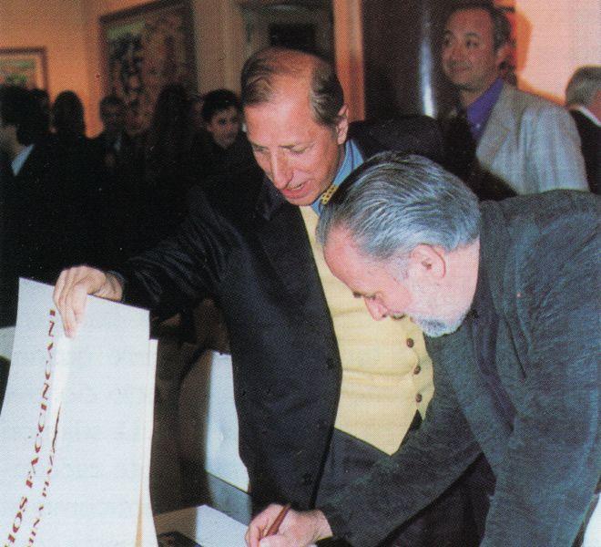 Pippo Franco con Athos Faccincani - Roma 1997