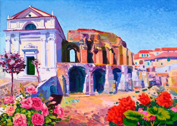 S. Maria della verità e il teatro romano a Benevento