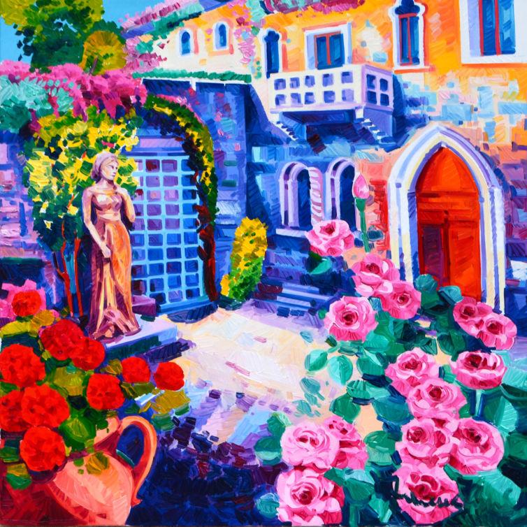 Romantiche rose alla casa di Giulietta