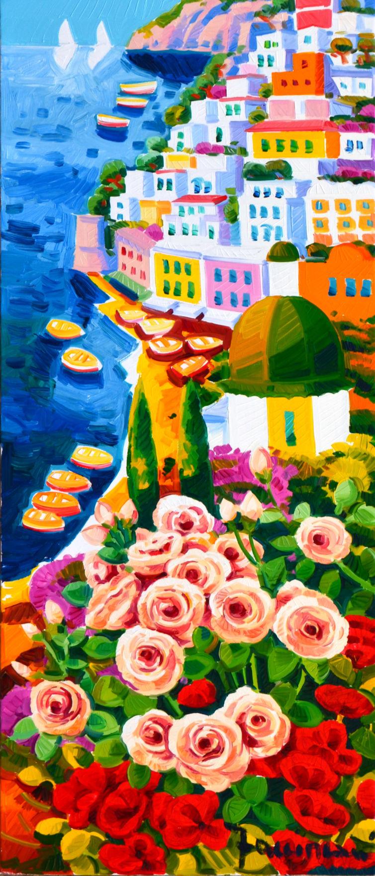 Romantiche rose e Positano