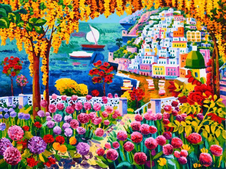 Le rose e i fiori di cipolla raccontano di Positano