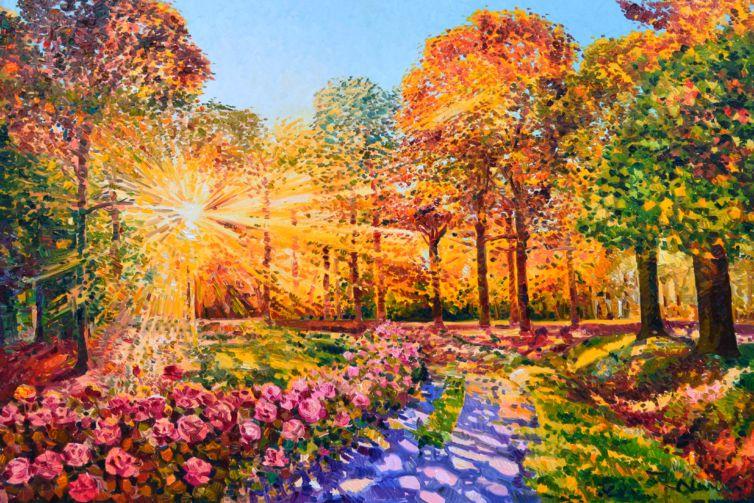 Lungo il viale delle rose la luce e le nostre riflessioni