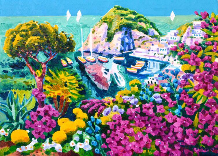 La bouganvillea racconta di un sogno verso Ischia