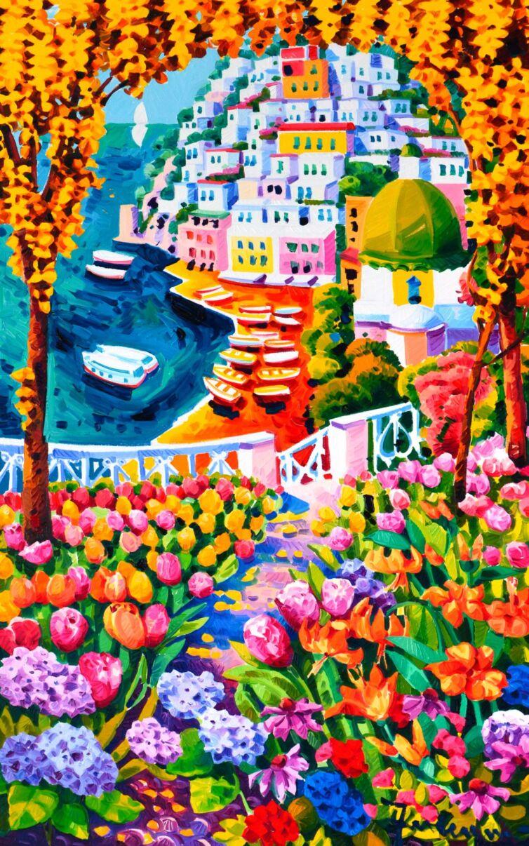 Un giardino di luce e colori verso Positano