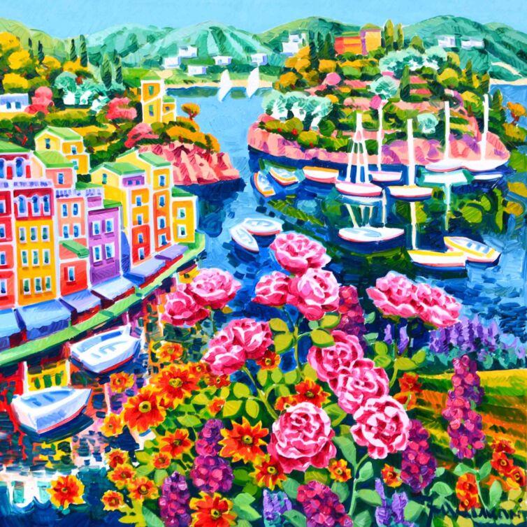 Gioia tra luce e fiori a Portofino