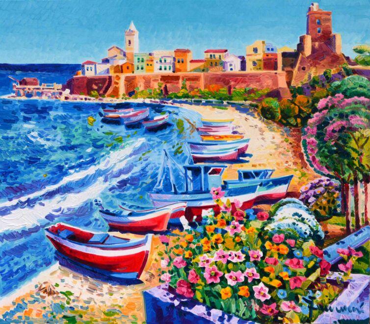 Barche sulla spiaggia e tanta luce su Termoli