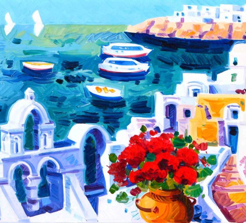 Luce a Santorini