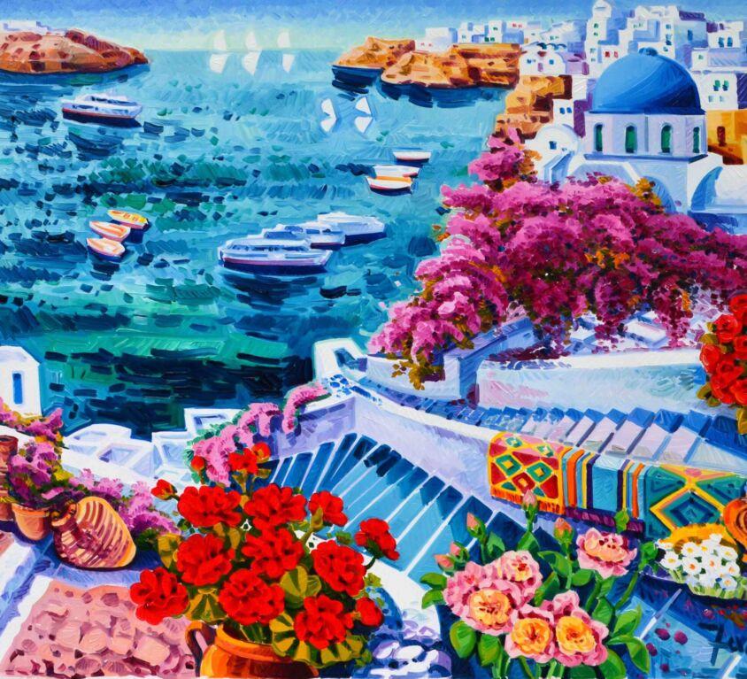 Quando la luce abbraccia Santorini