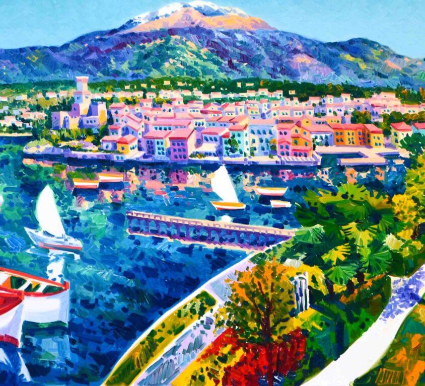 Il castello di Malcesine e il monte Baldo
