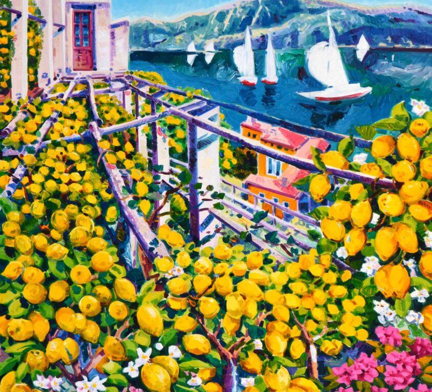 Gioia di limoni e vele sul lago di Garda